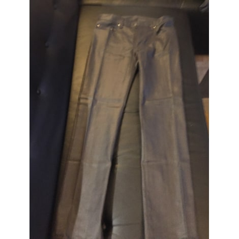 Jeans droit VERSACE Gris, anthracite
