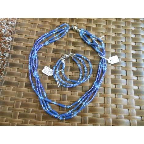 Parure bijoux ZABOK Bleu, bleu marine, bleu turquoise