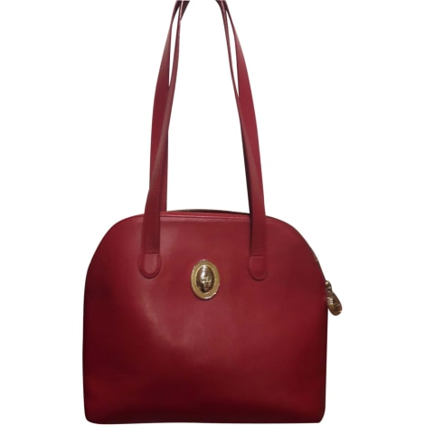 Sac en bandoulière en cuir DIOR Dior soft Rouge, bordeaux
