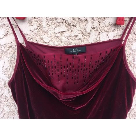 Top, tee-shirt 1.2.3 Rouge, bordeaux