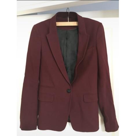 Blazer, veste tailleur MASSIMO DUTTI Rouge, bordeaux