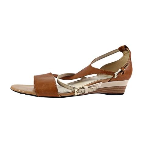 Sandales compensées TOD'S Marron