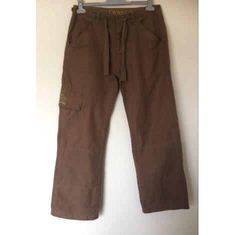Pantalon large CARNET DE VOL Beige, camel