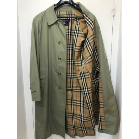 Imperméable, trench BURBERRY Vert