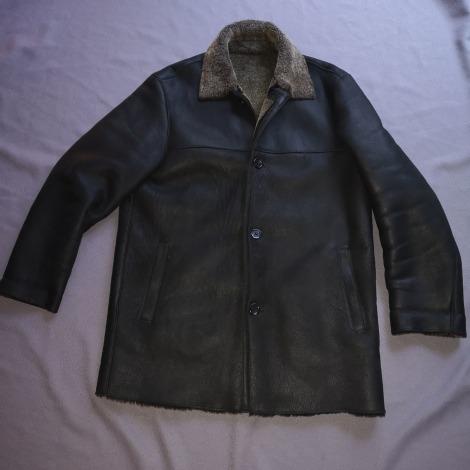 Manteau en cuir ARMANI JEANS Marron