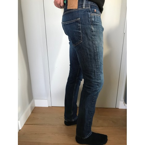 Pantalon slim MADS NORGAAD Bleu, bleu marine, bleu turquoise
