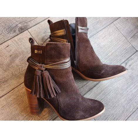 Bottines & low boots à talons LES TROPÉZIENNES PAR M. BELARBI Marron