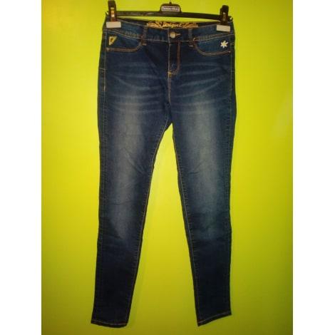 Jeans slim DESIGUAL Bleu, bleu marine, bleu turquoise