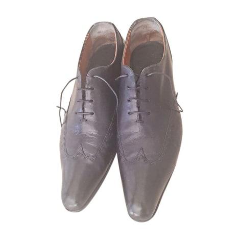 Chaussures à lacets SANTONI Bleu, bleu marine, bleu turquoise