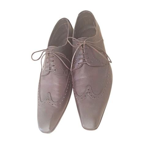 Chaussures à lacets SANTONI Marron