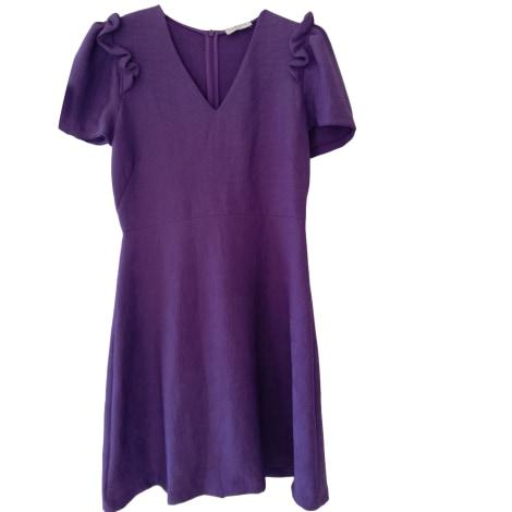 Robe courte SANDRO Violet, mauve, lavande