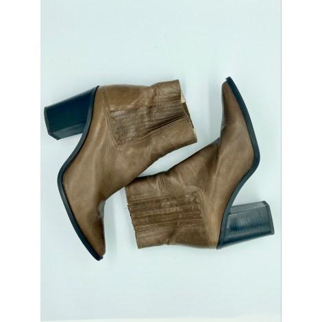 Santiags, bottines, low boots cowboy ZARA Beige, camel