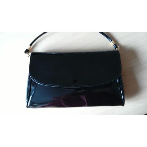 Handtasche Leder MADE IN ITALIE Schwarz