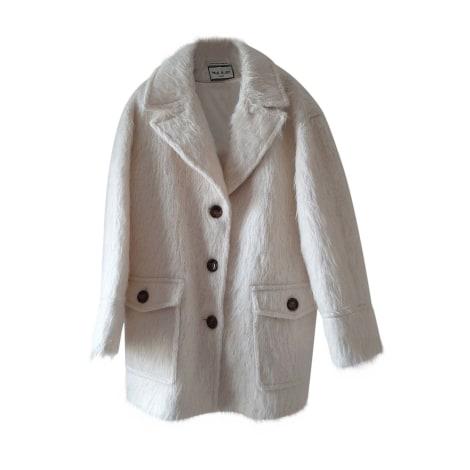 Manteau PAUL & JOE Blanc, blanc cassé, écru