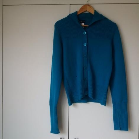 Gilet, cardigan SOMEWHERE Bleu, bleu marine, bleu turquoise