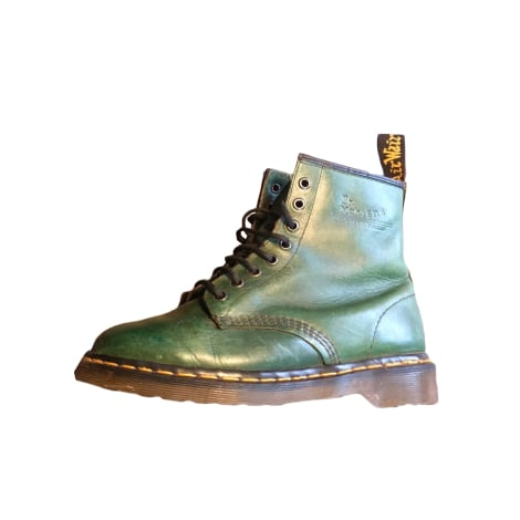 Bottines & low boots plates DR. MARTENS Vert