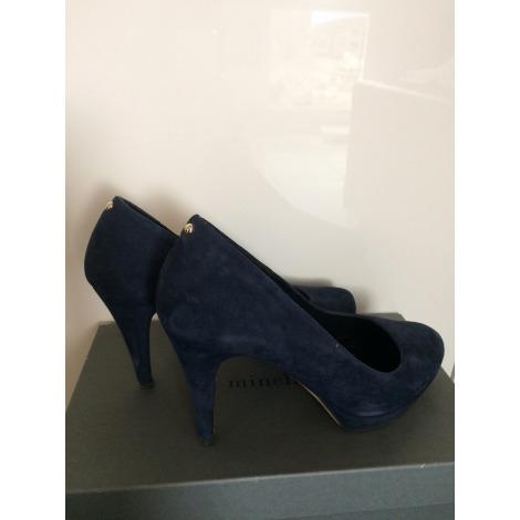 Escarpins compensés MINELLI Bleu, bleu marine, bleu turquoise