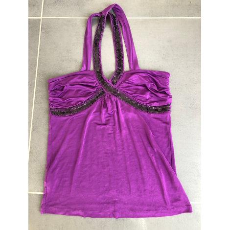 Top, tee-shirt MANGO Violet, mauve, lavande