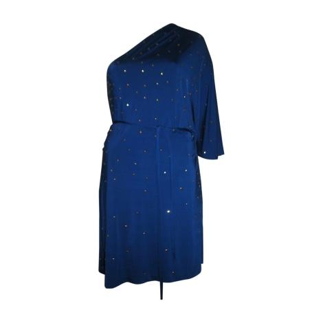 Robe mi-longue HALSTON HERITAGE Bleu, bleu marine, bleu turquoise