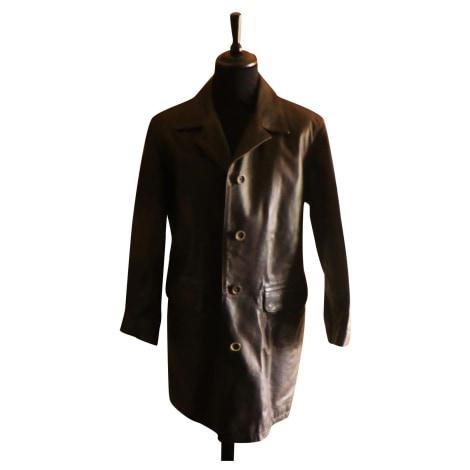 Manteau en cuir MARLBORO CLASSICS Marron