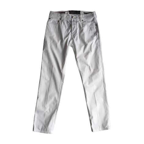 Pantalon droit JACOB COHEN Blanc, blanc cassé, écru
