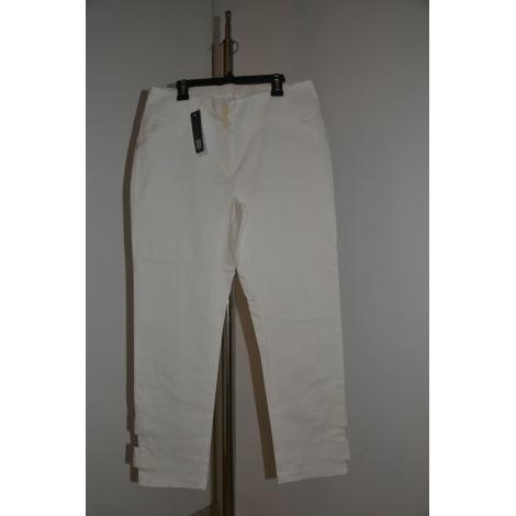 Pantalon droit CAPTAIN TORTUE Blanc, blanc cassé, écru