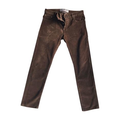 Pantalon droit JACOB COHEN Marron