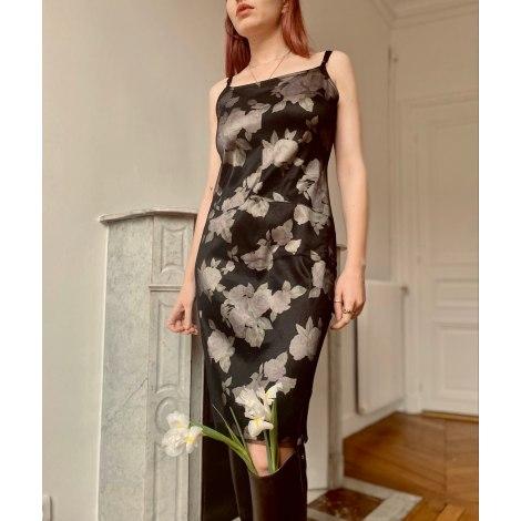 Robe mi-longue VINTAGE Rose, black
