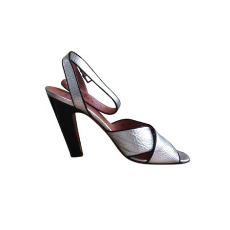 Sandales à talons ALAÏA Argenté, acier