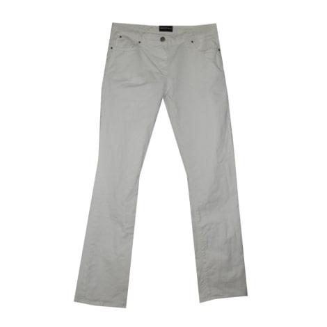 Jeans droit EMPORIO ARMANI Blanc, blanc cassé, écru