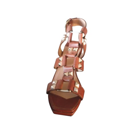 Sandales à talons SONIA RYKIEL COGNAC