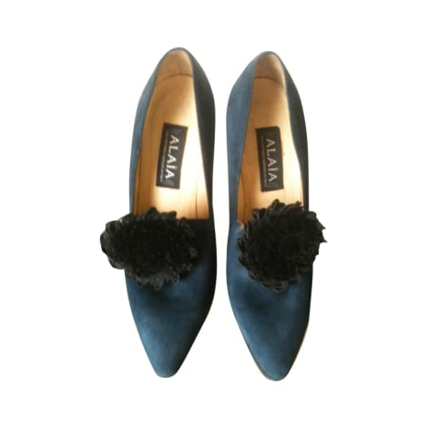 Richelieux ALAÏA Bleu, bleu marine, bleu turquoise