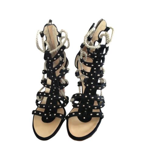 Sandales à talons BALMAIN Noir