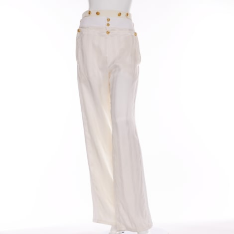 Pantalon large BALENCIAGA Blanc, blanc cassé, écru