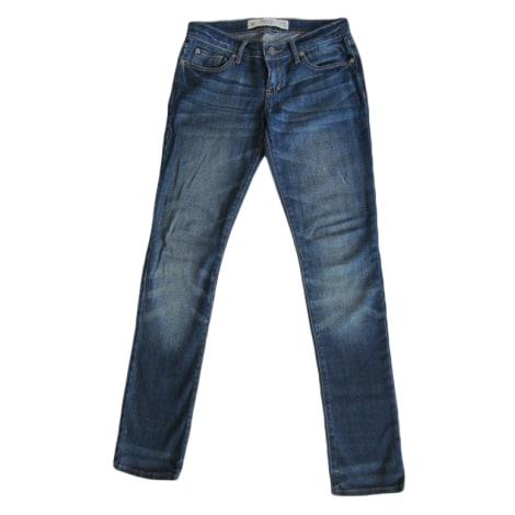 Pantalon slim, cigarette ABERCROMBIE & FITCH Bleu, bleu marine, bleu turquoise