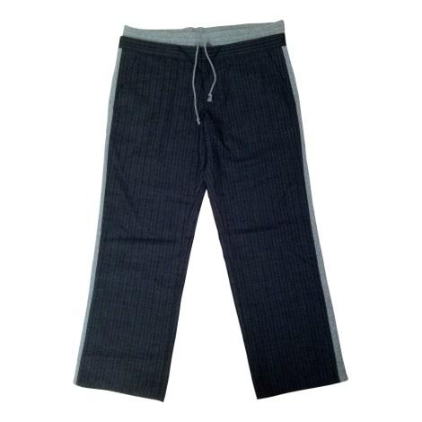 Pantalon droit DOLCE & GABBANA Gris, anthracite