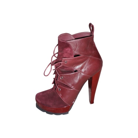 Bottines & low boots à talons WALTER STEIGER Rouge, bordeaux