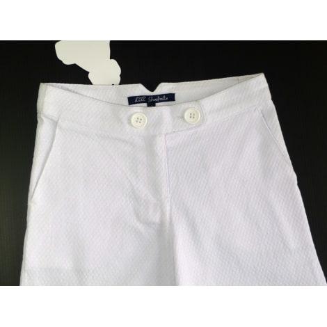Pantalon LILI GAUFRETTE Blanc, blanc cassé, écru