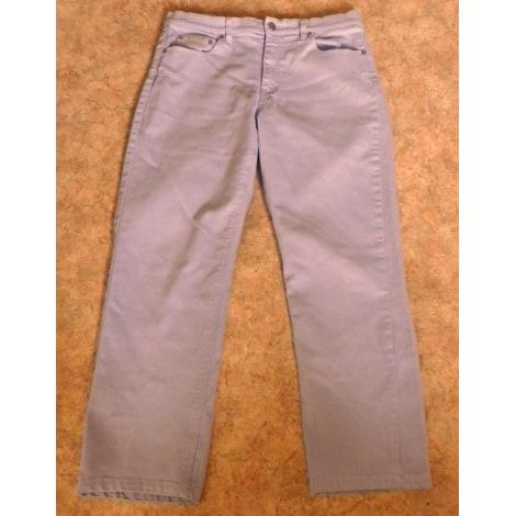 Jeans droit CALVIN KLEIN bleu-mauve