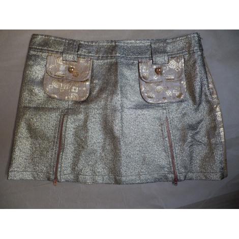 Jupe courte CUSTO BARCELONA Doré, bronze, cuivre
