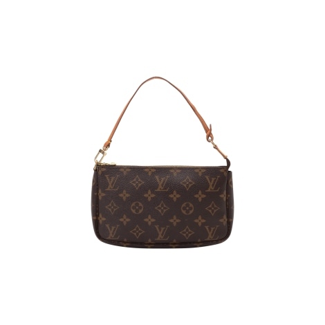 Sac pochette en cuir LOUIS VUITTON Marron
