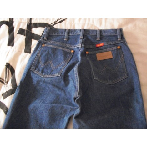 Pantalon droit WRANGLER Bleu, bleu marine, bleu turquoise
