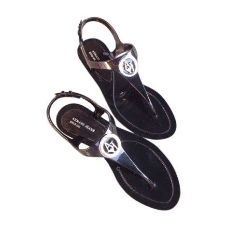 086f0c706e8e1 Flat Sandals ARMANI JEANS 39 black new with label sold by Jenny0212580680 -  2635079