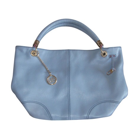 sac main en cuir lancel bleu vendu par titev ro 2870727. Black Bedroom Furniture Sets. Home Design Ideas
