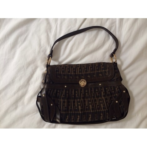 Non-Leather Shoulder Bag FENDI Brown