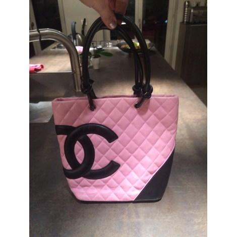 c6db0f76722 Sac à main en cuir CHANEL cambon rose vendu par Thillet466847 ...