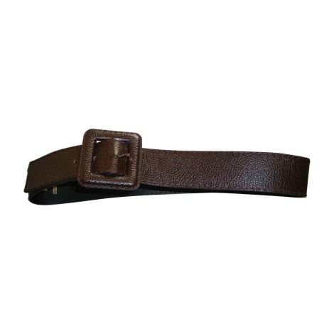 Wide Belt YVES SAINT LAURENT Brown