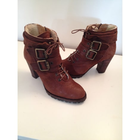 Bottines & low boots à talons IKKS Marron