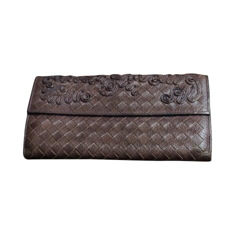 porte monnaie bottega veneta marron 3224554. Black Bedroom Furniture Sets. Home Design Ideas