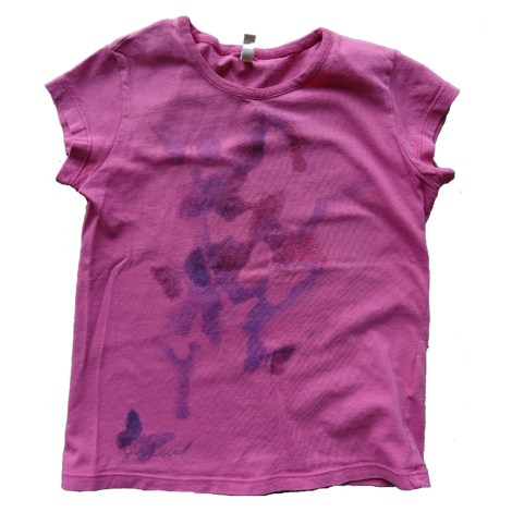 Top, Tee-shirt BENETTON Rose, fuschia, vieux rose
